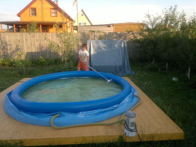 Персональный сайт - Основание для дачного надувного бассейна.